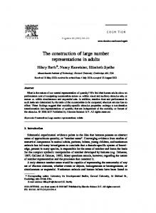 The construction of large number representations in adults