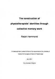 The construction of physiotherapists' identities through collective ...