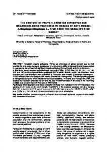 THE CONTENT OF POLYCHLORINATED BIPHENYLS AND