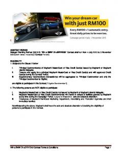The Contest Period - Maybank