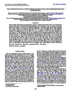 the contribution of halo white dwarf binaries to the laser ... - IOPscience