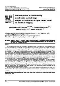 The contribution of remote sensing in hydraulics and hydrology