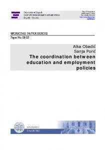 The coordination between education and