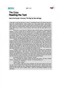 The Copy Reading the Text