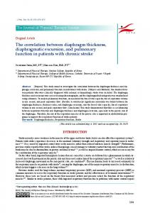 The correlation between diaphragm thickness ... - J-Stage