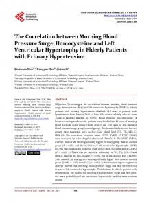 The Correlation between Morning Blood Pressure Surge ...