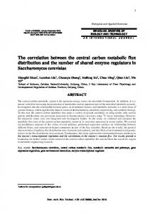The correlation between the central carbon metabolic flux distribution ...