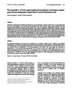 the correlation of cag repeat length polymorphisms of androgen ...