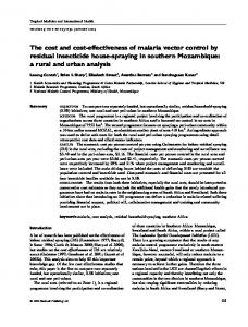 The cost and cost-effectiveness of malaria ... - Wiley Online Library