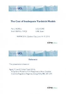 The Cost Of Inadequate Yardstick Models
