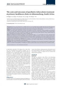 The costs and outcomes of paediatric tuberculosis treatment at primary ...