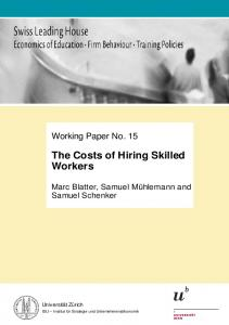 The Costs of Hiring Skilled Workers