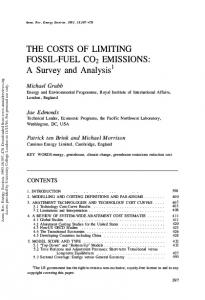 The Costs of Limiting Fossil-Fuel CO2 Emissions: A ...