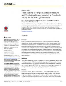 The Coupling of Peripheral Blood Pressure and ... - Semantic Scholar