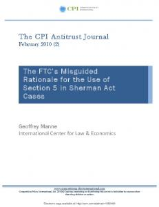The CPI Antitrust Journal The FTC's Misguided ... - SSRN papers