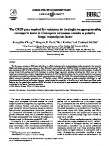 The CRG1 gene required for resistance to the ... - Semantic Scholar