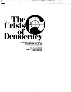 The Crisis of Democracy - Trilateral Commission
