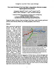 The crustal thickness of the Great Basin - The Nevada Seismological ...