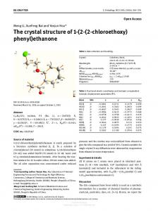 The crystal structure of 1-(2-(2-chloroethoxy) phenyl ...