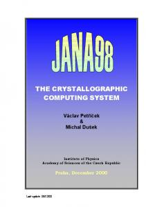 the crystallographic computing system - CCP14