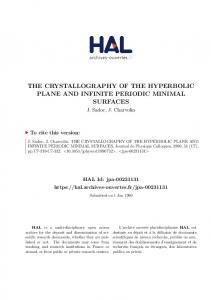 the crystallography of the hyperbolic plane and
