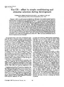 The CS− effect in simple conditioning and ... - Springer Link