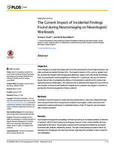 The Current Impact of Incidental Findings Found ... - Semantic Scholar