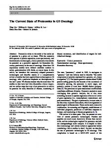 The Current State of Proteomics in GI Oncology - Springer Link
