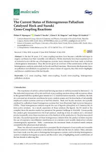 The Current Status of Heterogeneous Palladium Catalysed Heck and ...