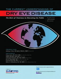 The Current Understanding of Dry Eye Disease - MedEdicus
