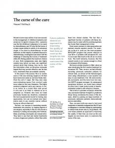 The curse of the cure - Nature