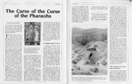 The Curse of the Curse of the Pharaohs - University of Pennsylvania ...