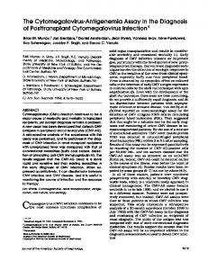 The Cyfomegalovirus-Antigenemia Assay in the Diagnosis of ...