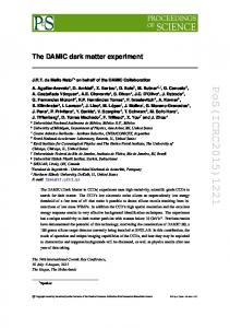 The DAMIC dark matter experiment