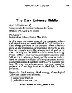 The Dark Universe Riddle - Apeiron