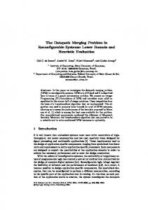 The Datapath Merging Problem in Reconfigurable Systems: Lower ...