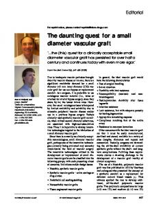 The daunting quest for a small diameter vascular graft