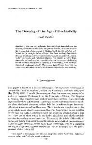 The Dawning of the Age of Stochasticity David Mumford ... - STAT