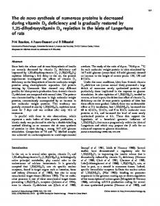 The de novo synthesis of numerous proteins is decreased during ...