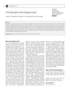The Decade of the Epigenomes? - SAGE Journals