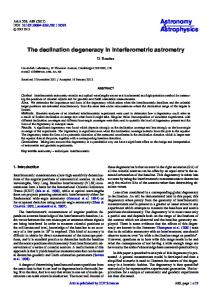 The declination degeneracy in interferometric astrometry - Astronomy ...