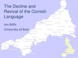 The Decline and Revival of the Cornish Language