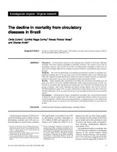 The decline in mortality from circulatory diseases in Brazil