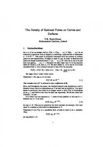 The Density of Rational Points on Curves and Surfaces