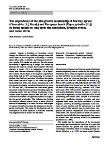 The dependency of the size-growth relationship of Norway spruce ...