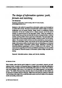 The design of information systems: parti, formats ... - Semantic Scholar