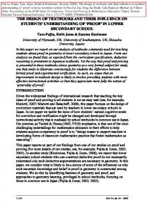 The design of textbooks and their influence on ... - Semantic Scholar