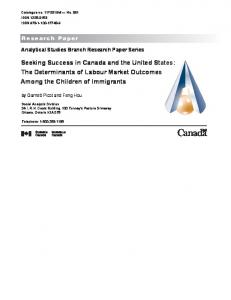 The Determinants of Labour Market Outcomes ... - Statistics Canada