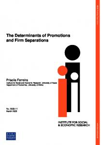 The Determinants of Promotions and Firm Separations