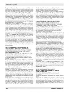 The Determinants of Reporting of Adverse Drug Reactions by Nursing